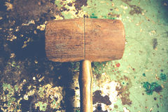 Wood hammer Stock Photo