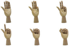 Wood Hand Countdown Stock Photography