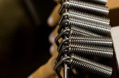 Wood handle aluminum heavy duty fiberglass laminate roller tools royalty free stock photos