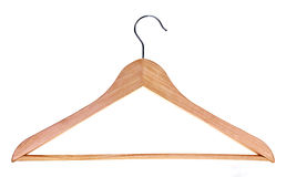 Wood hanger Stock Photo