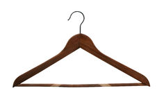 Wood hanger. Elegance wood hanger in dark color Stock Photography