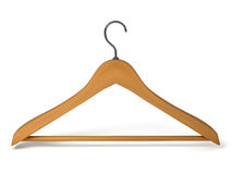 Wood hanger on the background Royalty Free Stock Photo