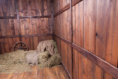 Wood and hay background Stock Image