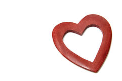 Wood heart Stock Photography