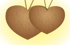 Wood-heart Stock Photo