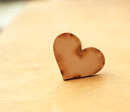 Wood heart Stock Photos