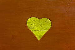 Wood with Heart Cutout Royalty Free Stock Photography