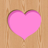 Wood with heart hole pattern background Stock Images