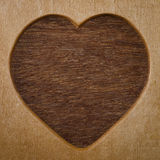 Wood heart shape frame Royalty Free Stock Image