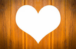 Wood heart shape Royalty Free Stock Images