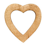 Wood heart. Wooden heart with empty spaces isolated on white Royalty Free Stock Photo
