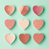 Wood Hearts Stock Image