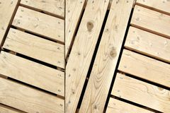 Wood Herringbone Pattern Paneling Detail Royalty Free Stock Photography
