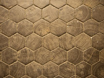 Wood Hexagon Pattern Stock Photography