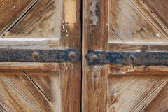 Wood and hinges Royalty Free Stock Photography