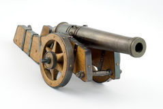 Wood historic cannon Stock Images