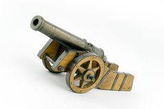 Wood historic cannon Royalty Free Stock Photos