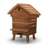Wood Hive For Bees Stock Photography