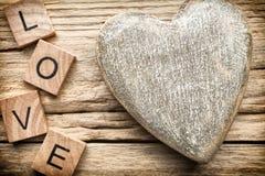 Wood hjärta Arkivfoton