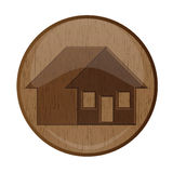 Wood home Royalty Free Stock Image