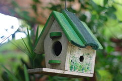 Wood home, Bird house. The wood home, Bird house stock image