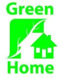 Wood home logo Stock Photography