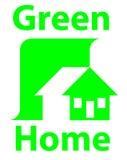 Wood home logo Stock Photos