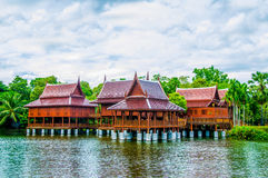 Wood home of thai style Stock Image