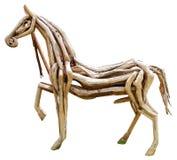 Wood horse. On white background Royalty Free Stock Image