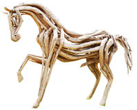 Wood horse. On white background Royalty Free Stock Photography