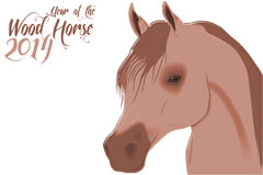 2014 wood horse Royalty Free Stock Images