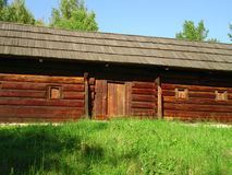 Wood House. An Old wood house, architecture Museum in Pirogovo, Ukraine, Kyiv Stock Image