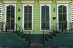 Wood house in the French Quarter of New Orleans Stock Image