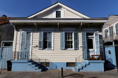 Wood house in the French Quarter of New Orleans Royalty Free Stock Image