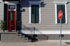 Wood house in the French Quarter Stock Photography