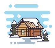 Wood house icon Stock Image