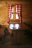 Wood house interior Stock Photography