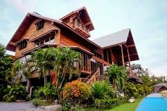 Wood house at Khao Yai Royalty Free Stock Image