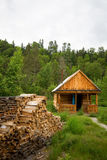 Wood house for leisure travelers Stock Images