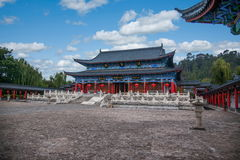 Wood House Lijiang, Yunnan Chamber. Wood House Lijiang Tusi yamen commonly known, is located in the ancient city of Lijiang Lion Rock, Lijiang ancient culture Royalty Free Stock Images