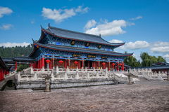 Wood House Lijiang, Yunnan Chamber. Wood House Lijiang Tusi yamen commonly known, is located in the ancient city of Lijiang Lion Rock, Lijiang ancient culture stock image