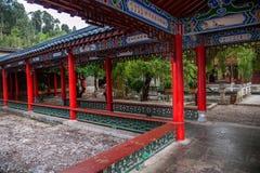 Wood House Lijiang, Yunnan courtyard Royalty Free Stock Photo