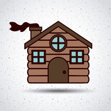 Wood house of Merry Christmas design Stock Photo