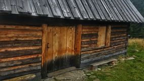 Wood house in mountain Royalty Free Stock Image