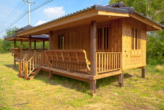 Wood house in Thailand. Country stock images