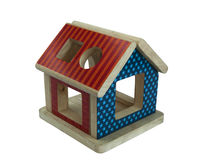 Wood house toy Royalty Free Stock Image