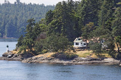 Wood House in Vancouver Island Stock Photos