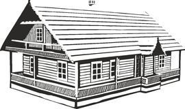 Wood House. Vector illustration of an wood house Royalty Free Stock Photography