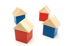 Wood houses Stock Photography
