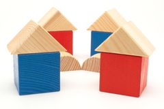 Wood houses Stock Photos